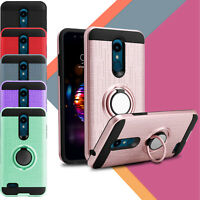 For LG K30/K10/Xpression Plus/Phoenix Plus Rugged Ring Stand Holder Case Cover