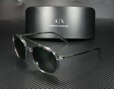 ARMANI EXCHANGE AX4069S 82439A Dark Grey Polarized Green 57 mm Men's Sunglasses