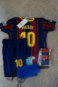 BARCE Messi Kids Jersey Kit Age 3 - 13 Yrs Shirt, short, socks, key 2020 / 21