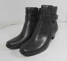 Calzado de mujer botines grises de piel sintética