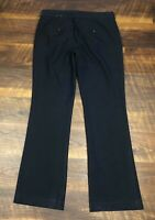 Express COLUMNIST Navy Blue Textured Wide Leg size 8 Career Women's Dress Pants