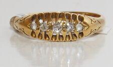 VINTAGE 18CT 18KT GOLD DIAMOND HALF HOOP BOAT ETERNITY RING WT 3.2g Size P
