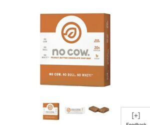 NEW 36 Bars No Cow Vegan Protein Bars Peanut Butter Chocolate Chip  EXP 04/21