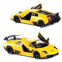 1:36 Lamborghini Murcielago LP670-4 SV Model Car Diecast Toy Pull Back Yellow