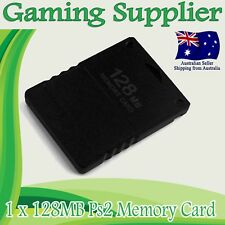 Sony PlayStation 2 PS2 MEMORY CARD FOR PLAYSTATION 2 128MB - BLACK