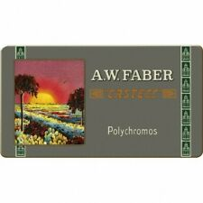 FABER CASTELL LIMITED EDITION POLYCHROMOS ARTIST COLOUR PENCILS SET OF 12 IN TIN