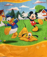 Mickey Mouse Duvet Cover Twin Donald Duck Goofy Disney Yellow 60 x 80
