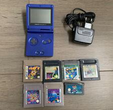 Nintendo Gameboy Advance SP Handheld Spielkonsole - Blau Game Boy + 7 Spiele