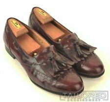 SALVATORE FERRAGAMO Cordovan Burgundy Leather Wingtip Loafer Dress Shoes - 11 D