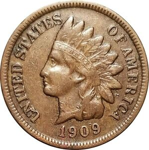 1909-S Indian Cent, Eye Appealing VF, Very Fine, Key Date