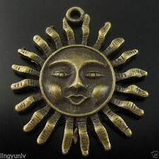 14PCS Antique Style Bronze Tone Smile Sun Charms Pendant Finding 08081