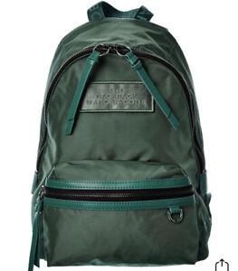 NWT Marc Jacobs THE BACKPACK Green Medium Biker Nylon Shoulder Tote Bag $195