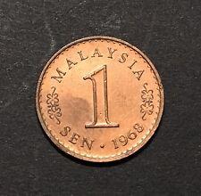 Malaysia 1 Sen 1968 Key Date - EF/AUNC