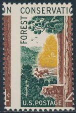 """#1122 Var. """"4¢ Forest Conservation"""" Perf Shift Error Bs2688"""