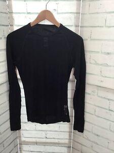Rapha Black Base Layer Men's - 100% Merino Wool, Long Sleeve, Size XS