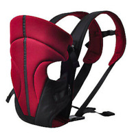 BABY CARRIER  INFANT NEWBORN 3 POSITIONS FRONT&BACK ERGONOMIC RED FREE SHIPPING