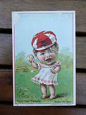 "ORIGINAL 1889  ""TAN ""OO"" TETCH"" BABY McKEE DR. FRIEND'S BASEBALL CARD"