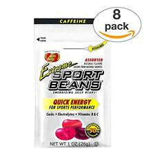 Jelly Belly Sport Beans with Caffeine. 8 Pack. Extreme Assorted Sport Beans