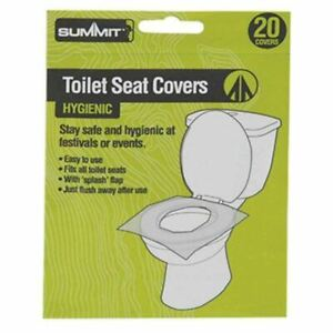 20pk Summit Paper Seat Cover Flushable Hygienic Health Camping