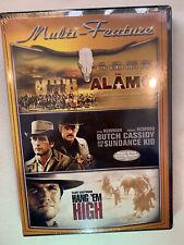 The Alamo, Butch Cassidy and the Sundance Kid, Hang 'Em High (Dvd, 3-Discs) New
