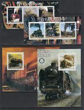 Trains Locomotives Railroads 2002 Eritrea MNH complete set  6 v + 2 S/s perf