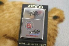 Vintage Zippo USS Prairie AD-15  50 and Forward with case + manual ---
