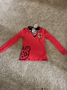 Chicago blackhawks Ladies Long Sleeve Shirt Medium