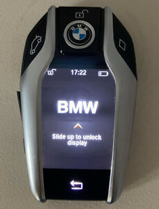 GENUINE BMW SMART DISPLAY 4 BUTTON TOUCH SCREEN REMOTE KEY 5 7 SERIES X5 TESTED!