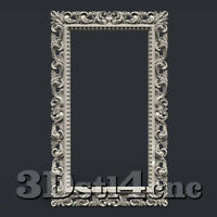 3D STL Model for CNC Router Carving Machine Frame Relief Artcam aspire Cut3D