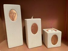 Home Interiors Graduated Cube Shaped Candle Holders.