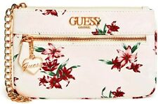 NWT GUESS ODETTE WRISTLET BAG Floral Logo Clutch Pouch Handbag Wallet GENUINE