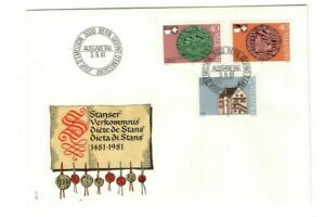 1981 SWITZERLAND - DIET OF STANS FDC FROM COLLECTION K15