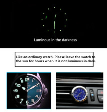 Car Truck Clock Watch Thermometer A/C Vent Clip Perfume Refill Storage Reserve