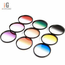 67mm 9 Graduated Gradual Color Filter kit set for Canon Nikon Sony Sigma Tamron