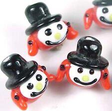 Lampwork Handmade Pumpkin Man Beads Halloween (6)