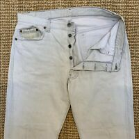 Vintage LEVI'S Womens 532 High Waist Off-White Denim Jeans W36 L30 Button Fly