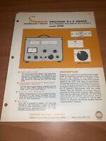 Simpson Precision R-L-C Bridge Dealer Brochure Pamphlet.