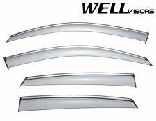 WellVisors Side Window Visors W/ Chrome Trim For 08-15 Infiniti EX35 EX37 QX50