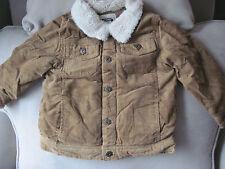 NWT Gymboree Boys Khaki Fleece Trim Corduroy Jacket/Coat Size 2T-3T
