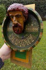 Luke Kelly The Dubliners wall memorial ornament 1984, great for Pub, Folk Music
