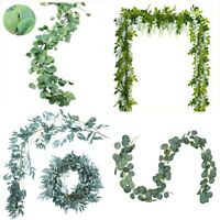 Artificial Greenery Eucalyptus Leaf Gray Willow Leaves Wisteria Hanging Rattans