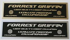Forrest Griffin UFC nameplate for signed mma gloves photo or case
