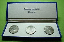 DDR Ehrengeschenk - FDJ - 3 Medaillen - Bezirksorganisation Dresden