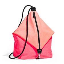 Victoria's Secret 2016 Drawstring Sling Bag Backpack Orange/Pink NWT Large $85