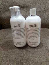 Philosophy Pure Grace Set-Shampoo Bath Shower Gel +Body Lotion 16OZ X2 NEW Lot