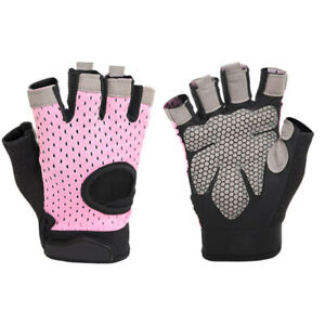 Breathable Cycling Glove Weightlifting Gym Gloves Unisex Climbing Half Finger SL