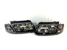 98-00 VW PASSAT BLACK LUXURY REPLACEMENT HEAD LIGHTS + TURN SIGNAL CORNER UNIT