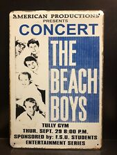 THE BEACH BOYS Concert Poster Vintage Retro Style LARGE Metal Sign 30x40 Cm
