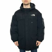 Men's The North Face McMurdo Parka Puffer Jacket With Down Filling Black UK L