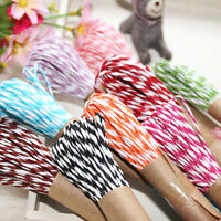 10M 2mm Cotton Twine Wedding Party DIY Crafts String Ribbon 11 Divine Colors Hot